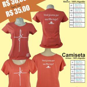 Camiseta Rosa Fe Desperta Debora