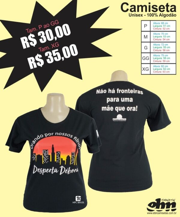 camiseta Cidade Desperta Debora